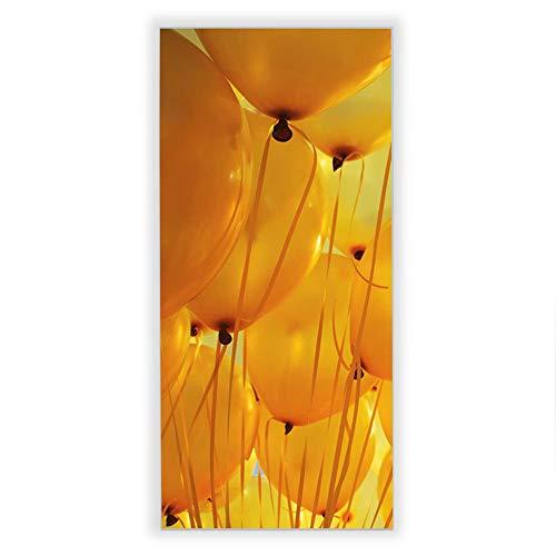 Banjado Wechselscheibe für IKEA GYLLEN Wandlampe | Glasscheibe für Wandleuchte 56x26cm | Echtglas Motiv Gelbe Luftballons | Hochformat
