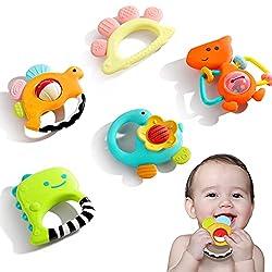 8. iPlay iLearn Baby Rattle Teether Set