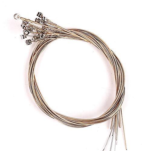 Wivarra 16 Piezas/Juego Conjunto de Cuerdas de Arpa de Lira para Arpa de Lira de 16 Cuerdas Cuerdas Necesarias Accesorios