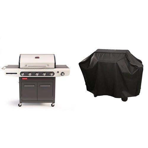 barbecook Gasgrill, Siesta 512, schwarz / creme, 117 x 77 x 52,5 cm, 2239251210 + Abdeckhaube