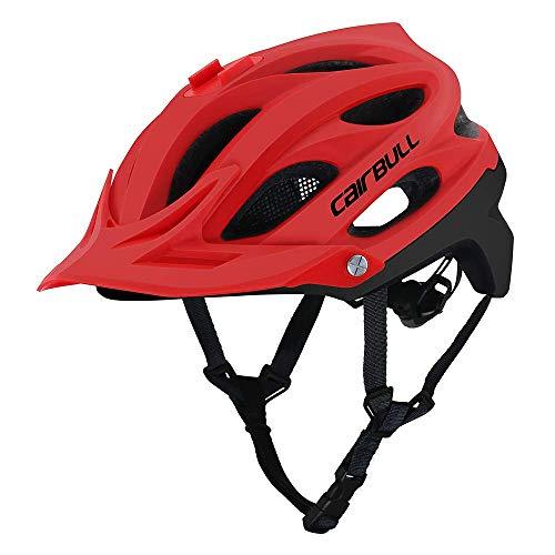 Fahrradhelm Fahrradhelm, CE-Zertifiziert Fahrrad/Fahrradhelm mit Kamera Installation Schnittstelle/abnehmbare Sonnenblende/Insect Net Futter for Erwachsene/Jugend/Berg, Rot