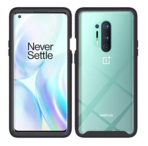 Easyscen Phone Case Oneplus 8 Pro, TPU Shock Absorption Shatter-Resistant Bumper + Clear PC Back Anti-Drop Cover Shockproof Two Layer Rugged Transparent Clear Case for Oneplus 8 Pro