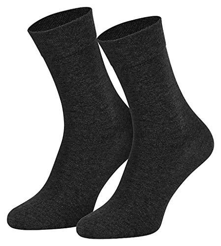4511/6 Paar Damen Komfort Socken ohne Gummi anthrazit, 39-42