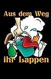 Aus dem Weg ihr Lappen: Notizbuch mit 120 Seiten linierten Papier (5.5x8,5 Zoll, ca. DIN A5 / 13.97 x 21.59 cm) Reinigungskraft Putzfrau Spruch Lappen Gebäudereiniger