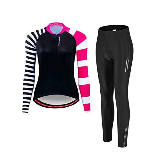 ZMMZZ Camisetas de ciclismo de las mujeres, deporte MTB desgaste de secado rápido bicicleta Jersey traje de equitación femenino, L