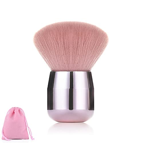 WLMT 1pcs Visage Moelleux Fondation Fondation Blush Brosse Soft Champignon Maquillage Brosse Chubby Cosmétique Outils de beauté avec Sac (Handle Color : 03)