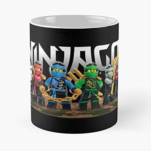 FashionNut Ninjago Mug Essen Sie Essen Biss John Best 11oz Unze weiße Keramik Kaffeebecher