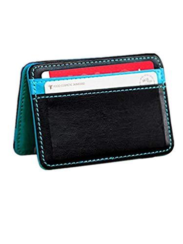 TEBAISE Herren mit Geldklammer Portemonnaie Männer klein Geldbeutel Männer ideales Geschenk zum Vatertag Slim Wallet mit Money Clip Kleingeldfach Geldbörse Kartenetui