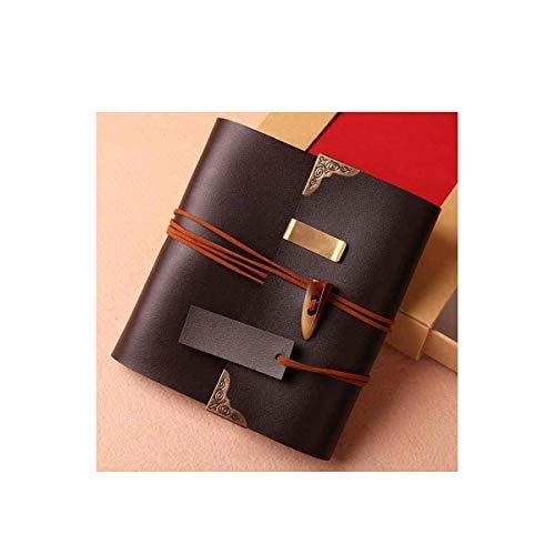 ZTMN fotoalbum, creatief handgemaakt traditioneel fotoalbum, verjaardagscadeau baby growing pasta, zwart (kleur: zwart)