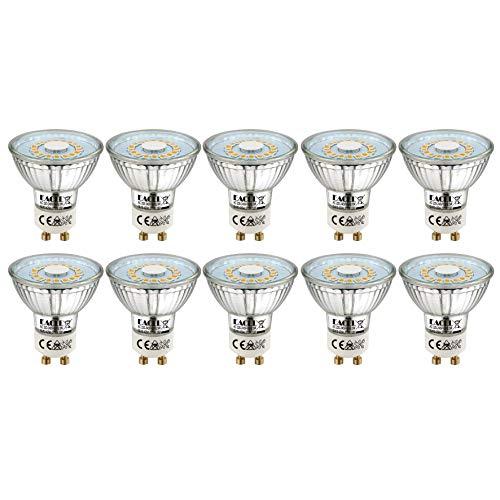 EACLL Bombillas LED GU10 2700K Blanco Cálido 5W Fuente de Luz 425 Lúmenes Equivalente 50W Halógena. AC 230V Sin Parpadeo...