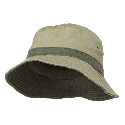 e4Hats.com Big Size Reversible Bucket Hat - Khaki Green XL/2XL