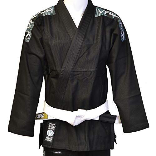 Valor - Bravura BJJ GI negro con cinturón blanco., color negro, tamaño A3