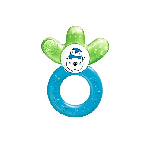 MAM Mordedor Cooler C132 - con Parte Refrescante Rellena de Agua para Bebés a Partir de 4 Meses, Azul
