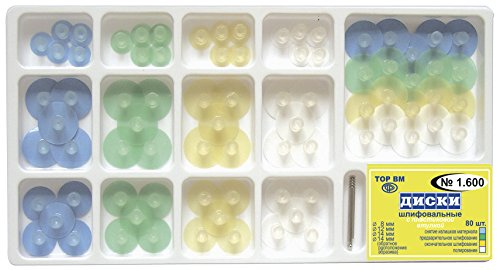 Zubastick Composite Finishing Polishing Stem Discs Assorted kit 80pcs + Mandrel TOR