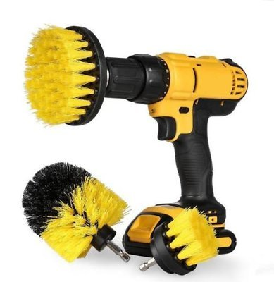 Power Scrubber Brush, Yefun 3Pcs/Set Multipurpose Scrubbing Drill Brush Attachment Kit & Cleaner for Cleaning Bathrooms, Tile, Grout, Boats