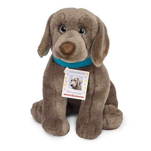Teddy Hermann 91938 Perro Weimaraner Cachorro 25 cm, Peluche, edición Especial Perros Favoritos