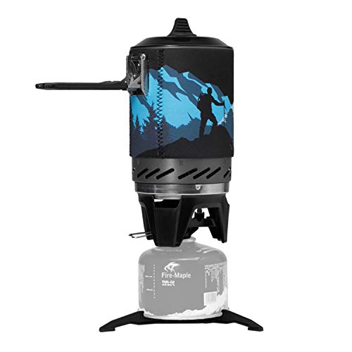 Fire-Maple FMS-X2 Hornillos Portátiles de Acampada al Aire Libre Mini Estufa para Acampar con Piezoeléctrico Quemador de Estufa de Gas Propano Portátil Negro