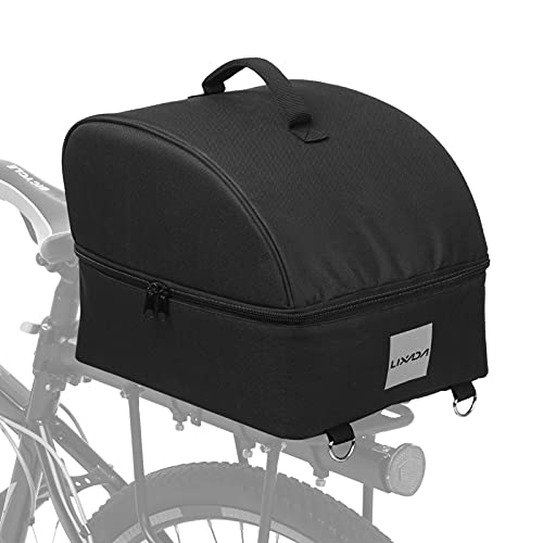 Lixada Insulated Portaequipajes y alforjas de Ciclismo Zippered Food Delivery Bike Rear Panniers Reflective Rear Saddle Bag Shoulder Bag for Shopping Work Picnic Camping Thermal Lunch Box Cooler Bag