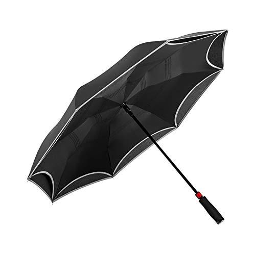 NFHBBAA Parapluie Réfléchissant Inverser Hommes Et Femmes Double Creux Parapluie Creux Forte Voiture Parapluie Réversible Pluie