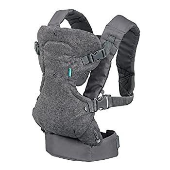Infantino Flip Advanced 4-in-1 Carrier - Ergonomic convertible face-in and face-out front and back carry for newborns and older babies 8-32 lbs