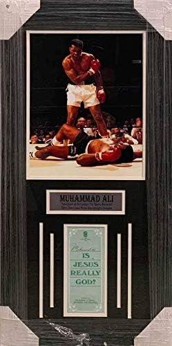 TSE Muhammad Ali Autographed is Jesus Really God Pamphlet Professionally Framed product image