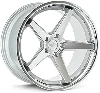 Ferrada Wheels FR3 22x9.5 5x115 ET15 Machine Silver/Chrome Lip C.B 73.1