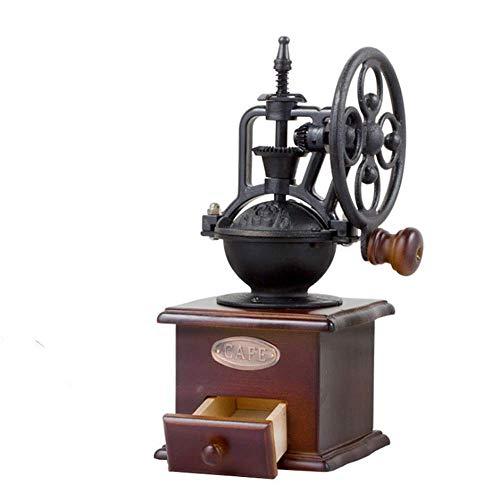 Koffiezetapparaat, Manual koffiemolen Oude Stijl Houten Hand Crank Mill met RVS handgreep Roller Korenmolen for thuiskantoor Travel Outdoor XIUYU