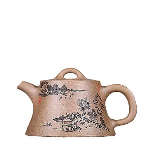 BINGFANG-W Kaffee Wang Großhandel Handgemachte Yixing Teekanne Erz Erz Teekanne Grüne Stucco Stativen Fabrikverkauf Tee-Sets