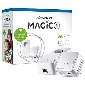 devolo Magic 1 WiFi Mini: Compacto Starter Kit Powerline para una WiFi eficaz por los Cables de Corriente a través de Las Paredes y los techos, Mesh, tecnología G.hn, WiFi para Invitados
