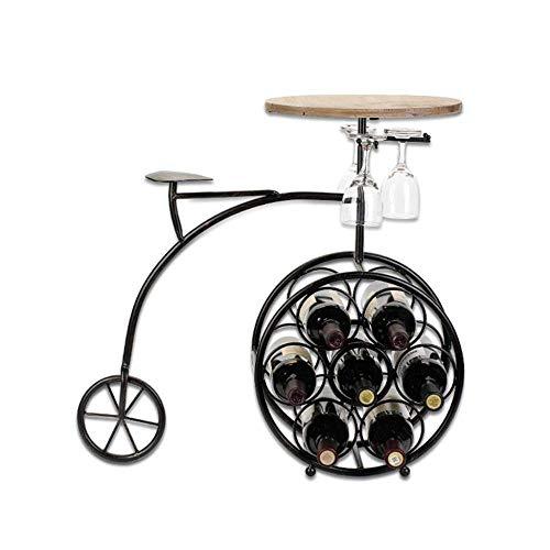 PYROJEWEL Negro Metal Moderno Holder 7 Botella Bodega Organizador con la colección del Vino Vino expositores colección representa la Cocina