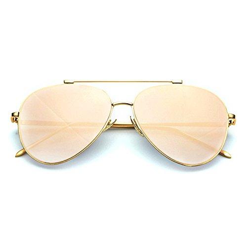 Smileyes TSGL023 2017 Colocción Nueva Gafas de Sol Con AC Lente UV400 Personalizadas Deportivas Clásicas Casuales para Mujer (Beige)