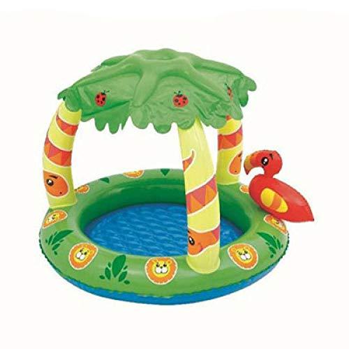 3DWallflexi PVC sombrilla árbol niños Piscina Inflable bebé portátil Piscina de Agua Juguete Piscina Playa Accesorios-Verde