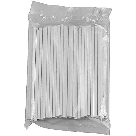 CYWVYNYT Lot de 100 bâtonnets en papier kraft pour cake pop, blanc, 15 cm