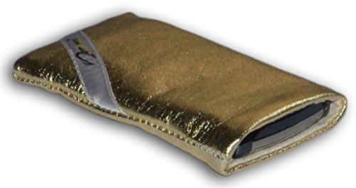 norrun Godela Handytasche Lamm-Nappa maßgeschneidert mit Mikrofasereinlage, Strahlenschutz ersetzt die Tasche von Hersteller/Modell Doro PhoneEasy 632