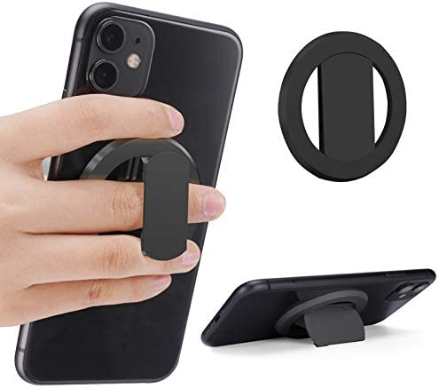 Vesmatity Magnetic Phone Ring Holder Ultra Thin 3mm Anti Drop Finger Kickstand Silicone Back product image