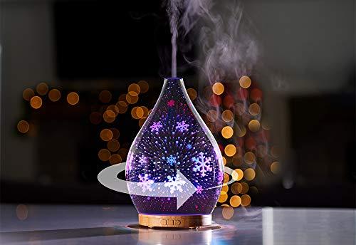 Sharper Image Snowflake 3D Rotating Aromatherapy Diffuser