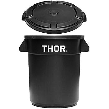 トラスト ソーラウンドコンテナ 23L Trust THOR Round Container [ ブラック/フタ付き ]