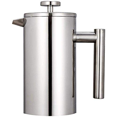 New Double Walled French Press, French Press Coffee Maker Stainless Steel French Cafetiere Coffee Po...