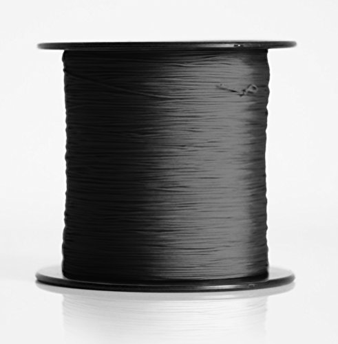Schnur für Plissee, Rollo, Jalousette 0,8 mm Spannschnur Plisseeschnur zubehör (Schwarz, 20 Meter)