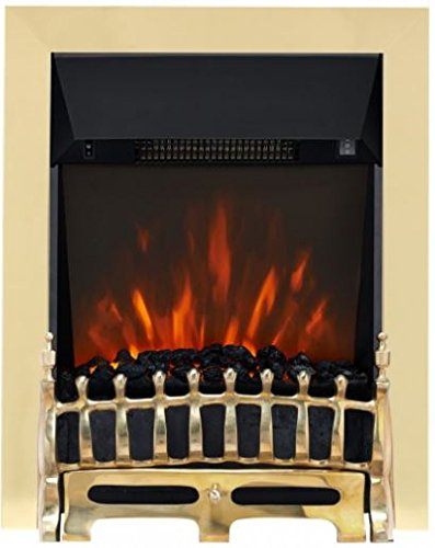 Focal Point Fires FPFAZ00804 Broadley LED Inset Electric, Brass