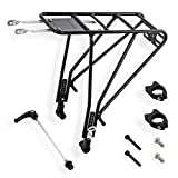 Great for Bikes Without Reserve Mounting Holes -Aluminum Rear Pannier Cargo Bicycle Rack Touring - for Disc & Non Disc...