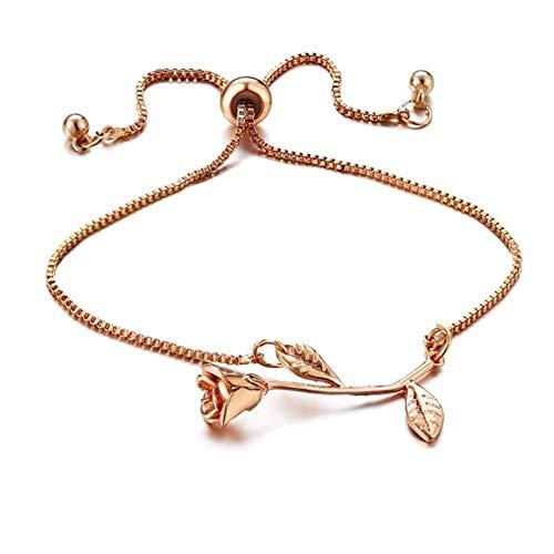 Hand Chain for Women Bracelet for Women Gold Bracelet Personalised Bracelets Nomination Bracelet Girlfriend Bracelet Wish Bracelets Retro Bracelet Rose Gold