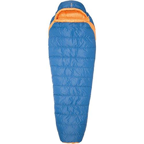 Exped Versa Mummy +5° bis Körpergröße Schlafsack 195 cm (L) cm blau, Reißverschluss Schlafsack Links