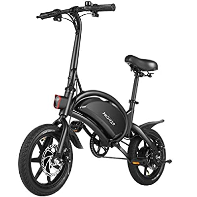 """ANCHEER Folding Electric Bike 12""""/14'' Electric Bike, 350W/500W Electric Commuter Bicycle 20MPH Adults Ebike and 48V 6ah/7.5ah Battery, Dual Disc Brakes"""