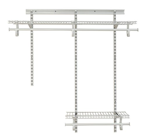 ClosetMaid 2087 ShelfTrack 2ft. to 4ft. Adjustable Closet Organizer Kit, White