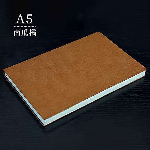 Blocs de Notas Bloc de Notas A5 Diario Cuaderno Cuaderno Business Notebook papelería A5 Taro púrpura (Color : Pumpkin Tangerine, Size : A5)