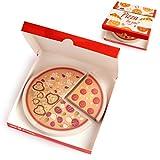 OfficeTree Haftnotiz Block Pizza 4 x 90 Blatt – Für Studenten und als Büro Gadgets – Sticky Notes im To go Karton