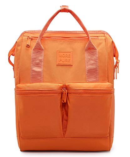 HotStyle MOREPURE Mochila Floral Vintage Mujer para Notebook 14-Inch (44x27x17cm), Naranja