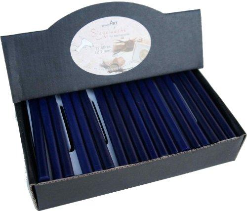 gravurART - Cera de sellado (flexible) para pistola - 72 barras, color azul oscuro