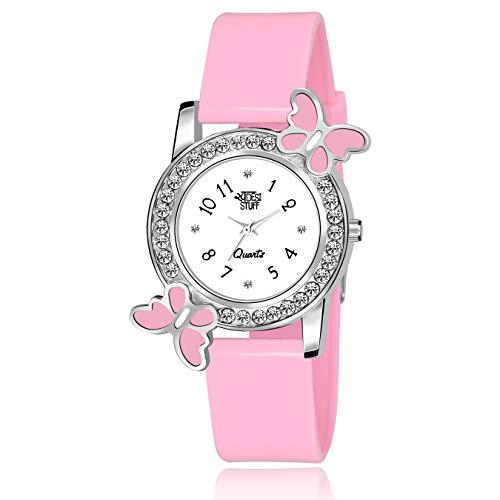 SWADESI STUFF Analogue Women's Watch (White Dial Pink Colored Strap)